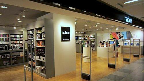 nübox Apple Premium Reseller store at NEX shopping centre in Singapore.