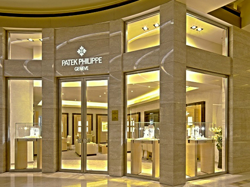 Patek Philippe watch store Marina Bay Sands Singapore.