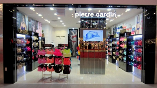 Pierre Cardin Lingerie shop at NEX shopping mall in Singapore.