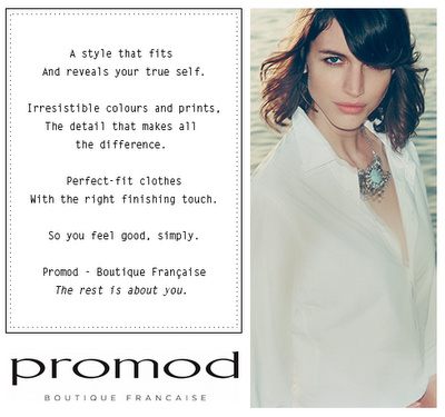 Promod, Boutique Française, advertisement.