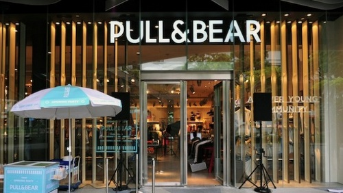 Pull&Bear clothing store at Bugis+ shopping centre in Singapore.