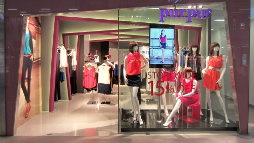 Purpur clothing store at NEX shopping centre in Singapore.