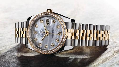 Rolex Oyster Datejust watch.