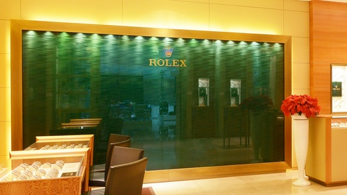 Rolex store Marina Bay Sands Singapore.