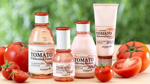 Skinfood tomato whitening beauty care set.