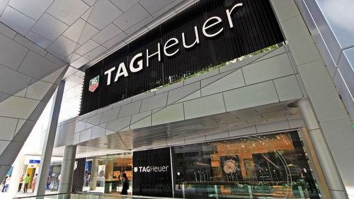 TAG Heuer watch store at Wisma Atria in Singapore.