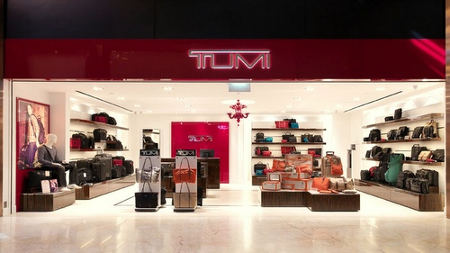 Tumi bag store at Resorts World Sentosa in Singapore.