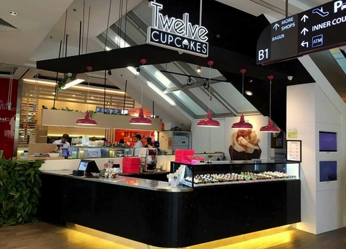 Twelve Cupcakes bakery store at Changi City Point in Singapore.