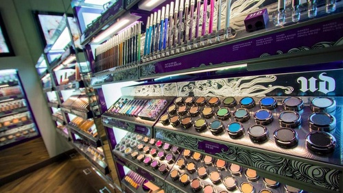 Urban Decay cosmetics store at Bugis Junction Singapore.