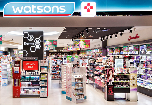 Watsons store ION Orchard Singapore.