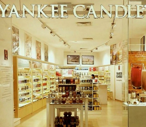 Yankee Candle shop at VivoCity mall in Singapore.