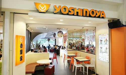Yoshinoya Japanese restaurant at Heartland mall in Singapore.