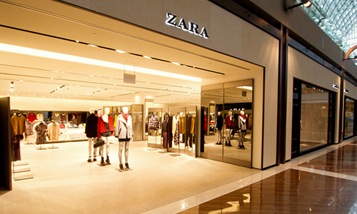 Zara clothing store at The Shoppes at Marina Bay Sands in Singapore.