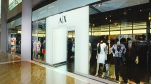 A|X Armani Exchange store Marina Bay Sands Singapore.