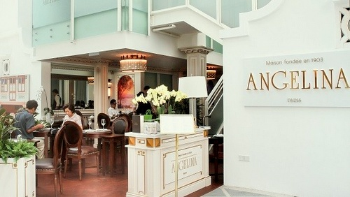 Angelina tea house Capitol Piazza Singapore.