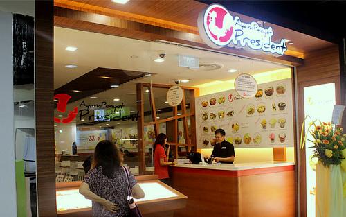 Ayam Penyet President Indonesian restaurant Century Square Singapore.