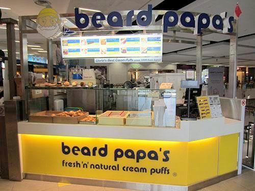 Beard Papa's cream puff shop NEX Singapore.