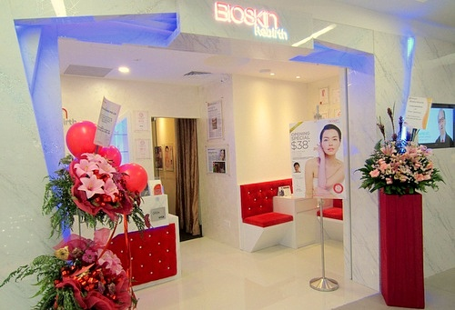 Bioskin Rebirth beauty salon NEX Singapore.