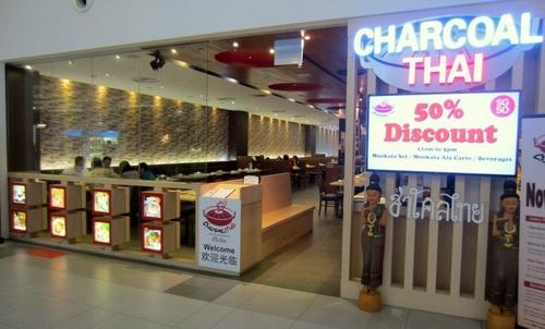 Charcoal Thai restaurant NEX Singapore.