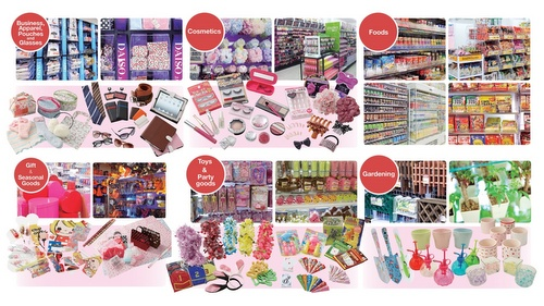Daiso value store products.