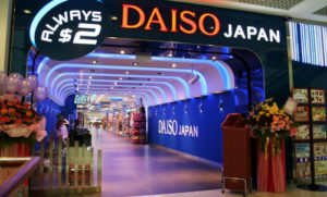 Daiso discount department store City Square Mall Singapore.