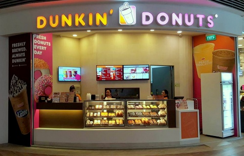 Dunkin' Donuts shop Waterway Point Singapore.