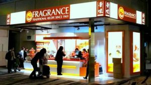 Fragrance foodstuff shop Changi Airport Terminal 3 Singapore.