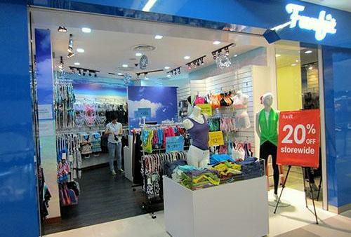 Funfit swimwear store NEX Singapore.