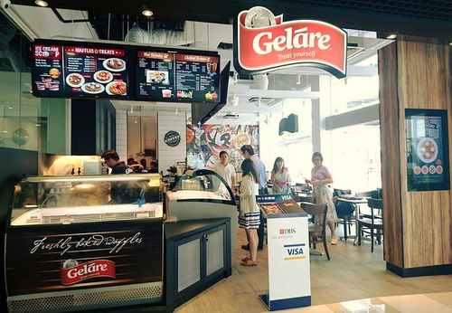 Geláre ice cream & waffle cafe at Viva Business Park Singapore.