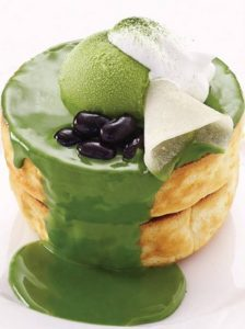 Hoshino Coffee Kyoto Matcha pancake.
