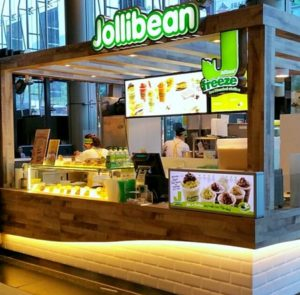 Jollibean snack shop Woodlands Civic Centre Singapore.
