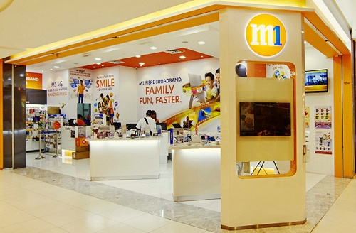 M1 Shop Bedok Mall Singapore.