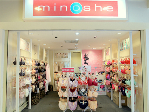 Minoshe lingerie shop Heartland Mall Singapore.