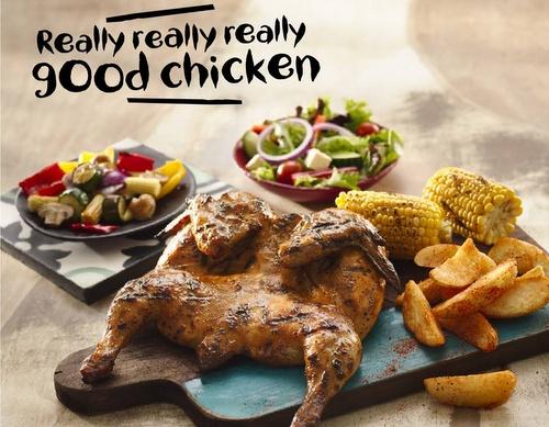 Nando's Portuguese-style chicken meal.