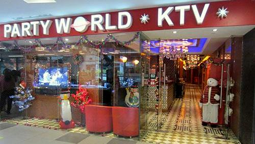 Party World KTV karaoke box nex Singapore.