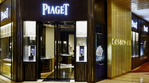 Piaget watch and jewellery store Marina Bay Sands Singapore.