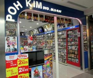 Poh Kim Video store NEX Singapore.