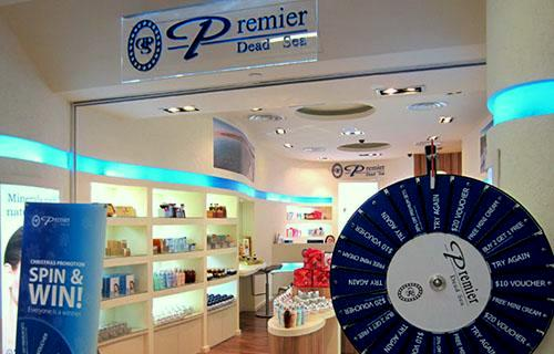 Premier Dead Sea store NEX Singapore.