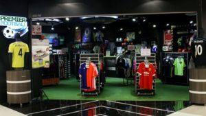 Premier Football store Bugis Junction Singapore.