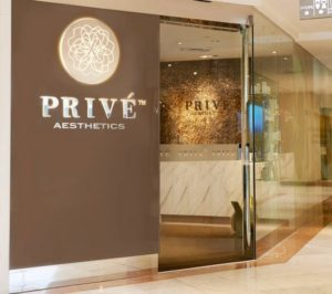 Privé Aesthetics salon Singapore.