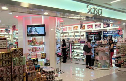 Sasa health & beauty store NEX Singapore.