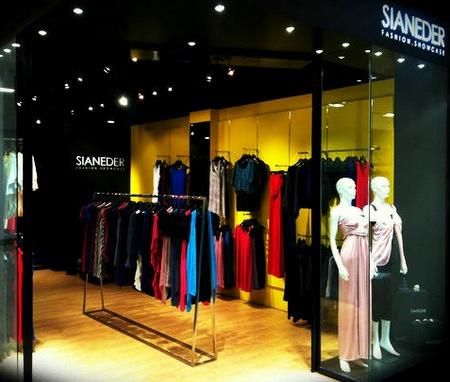 Sianeder clothing shop Bedok Mall Singapore.