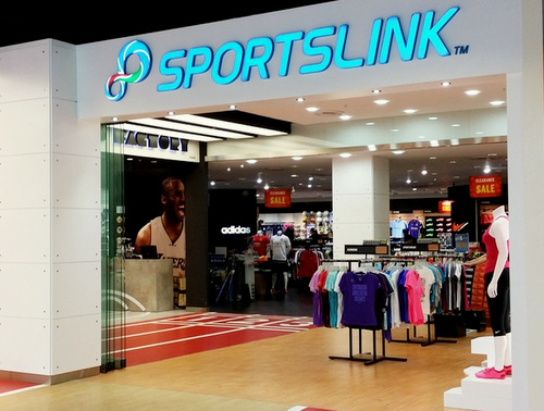Sportslink sporting goods store Singapore.