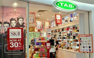TAB (Tins And Bottles) beauty store Century Square Singapore.