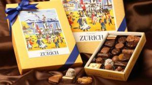 Teuscher chocolate gift box.