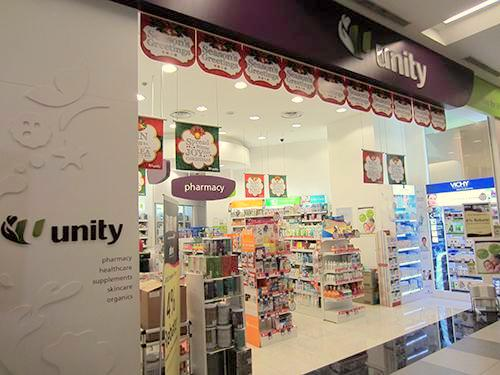 Unity pharmacies and healthcare stores in singapore for Product design singapore