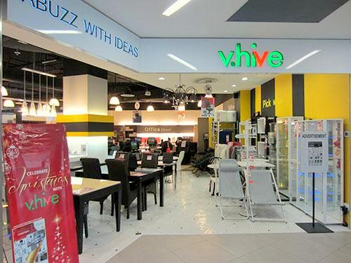 V.Hive furniture store NEX Singapore.