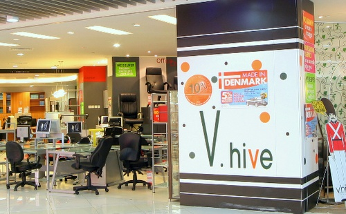 V.hive furniture store Plaza Singapura Singapore.