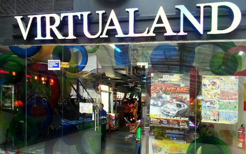 Virtualand game arcade Tiong Bahru Plaza Singapore.