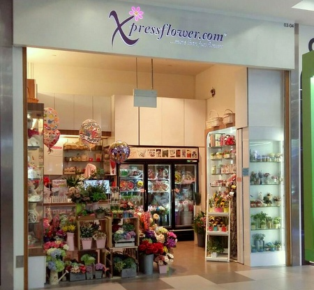 Xpressflower.com flower shop NEX Singapore.